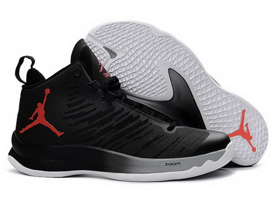 Air Jordan Super Fly V Black White Red Discount
